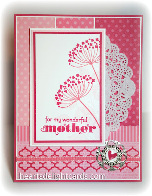Monochromatic, Mother's Day, hand crafted, cardmaking, papercrafting