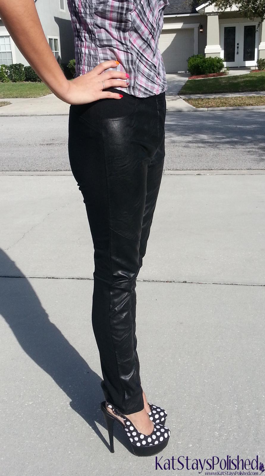 Madonna & Co - Vegan Leather Ponte Leggings | Kat Stays Polished