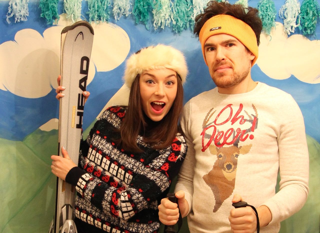 ski themed Photo Booth
