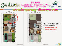 Gardenville Denah Rosette extention 6 x 15