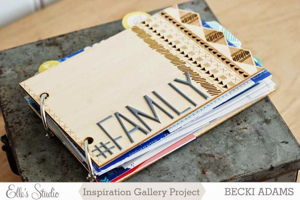 Family Photos Mini Album by Becki Adams @jbckadams #scrapbooking #minialbums #familyphotos
