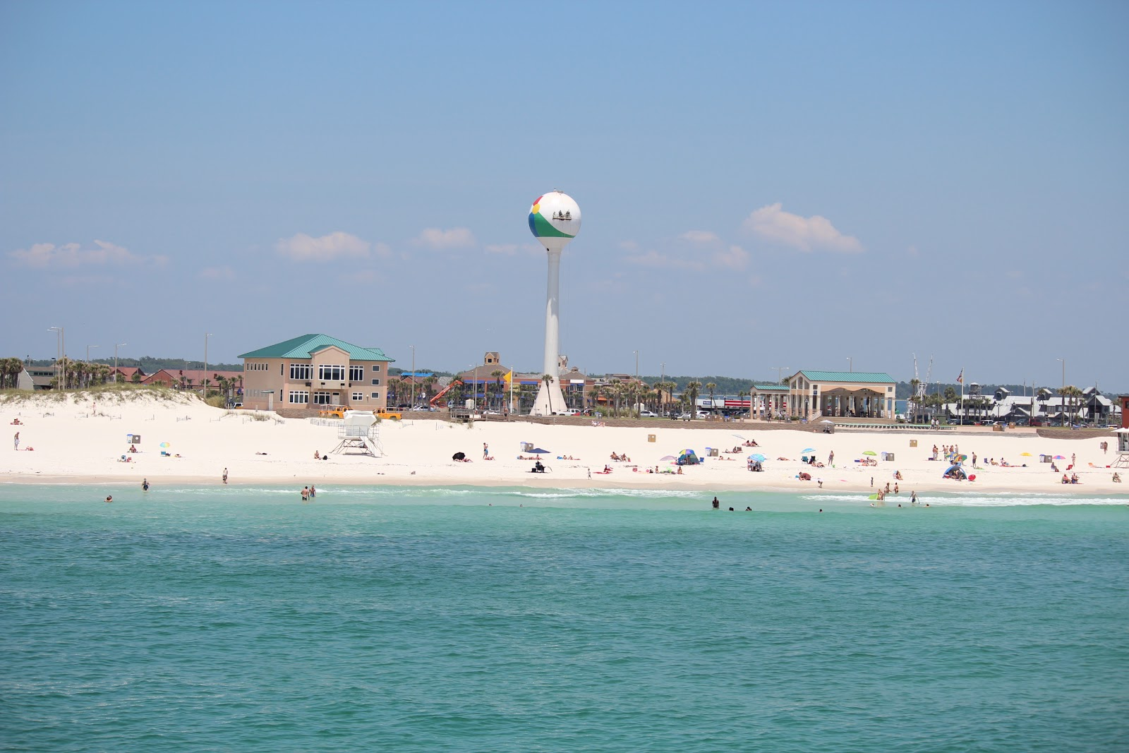 beach ball in ocean. View Of Beach Ball On Casino From Pensacola Gulf Fishing Pier In Ocean
