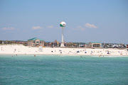View of Beach Ball on Casino Beach from Pensacola Gulf Fishing Pier (casino beach pensacola beach fl)
