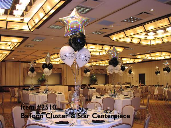 Balloon designs pictures vase centerpieces
