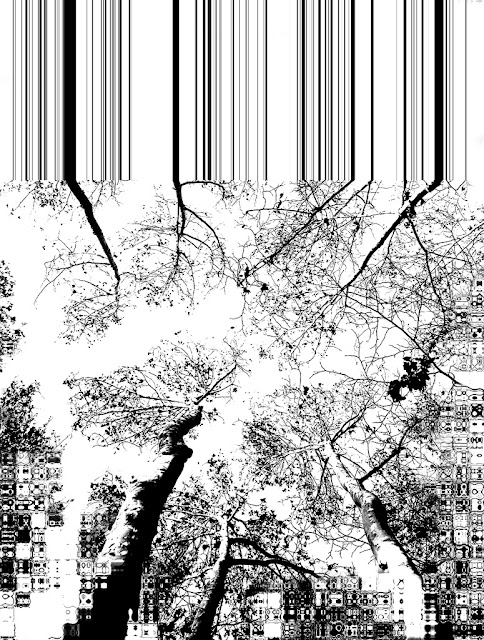 ramas arboles matte painting blanco negro
