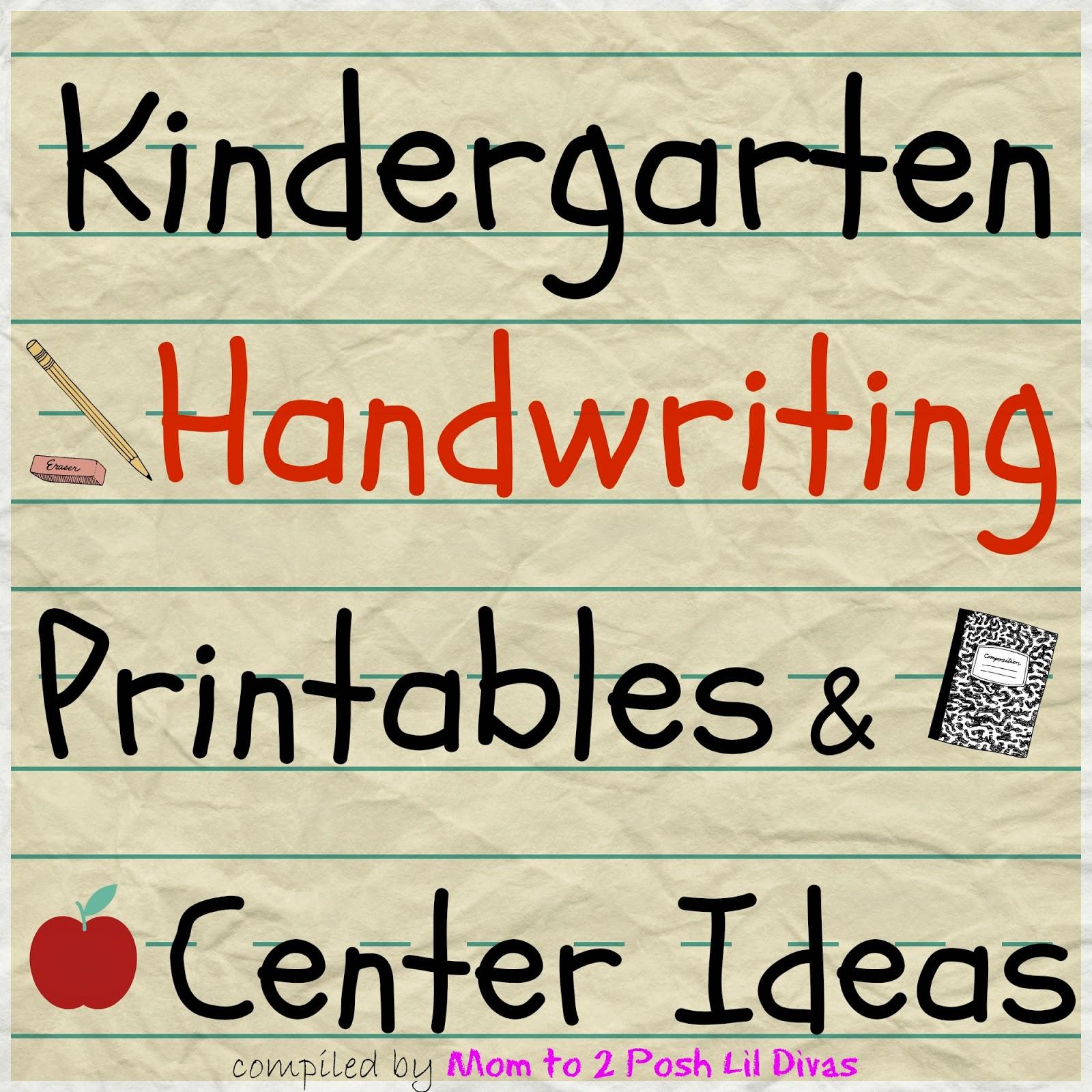 Worksheet Kindergarten Printing Practice mom to 2 posh lil divas kindergarten handwriting practice activities and centers