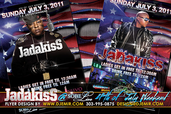 Jadakiss Sobe Live 4th of July American Independence Day Flyer Designs South Beach Florida