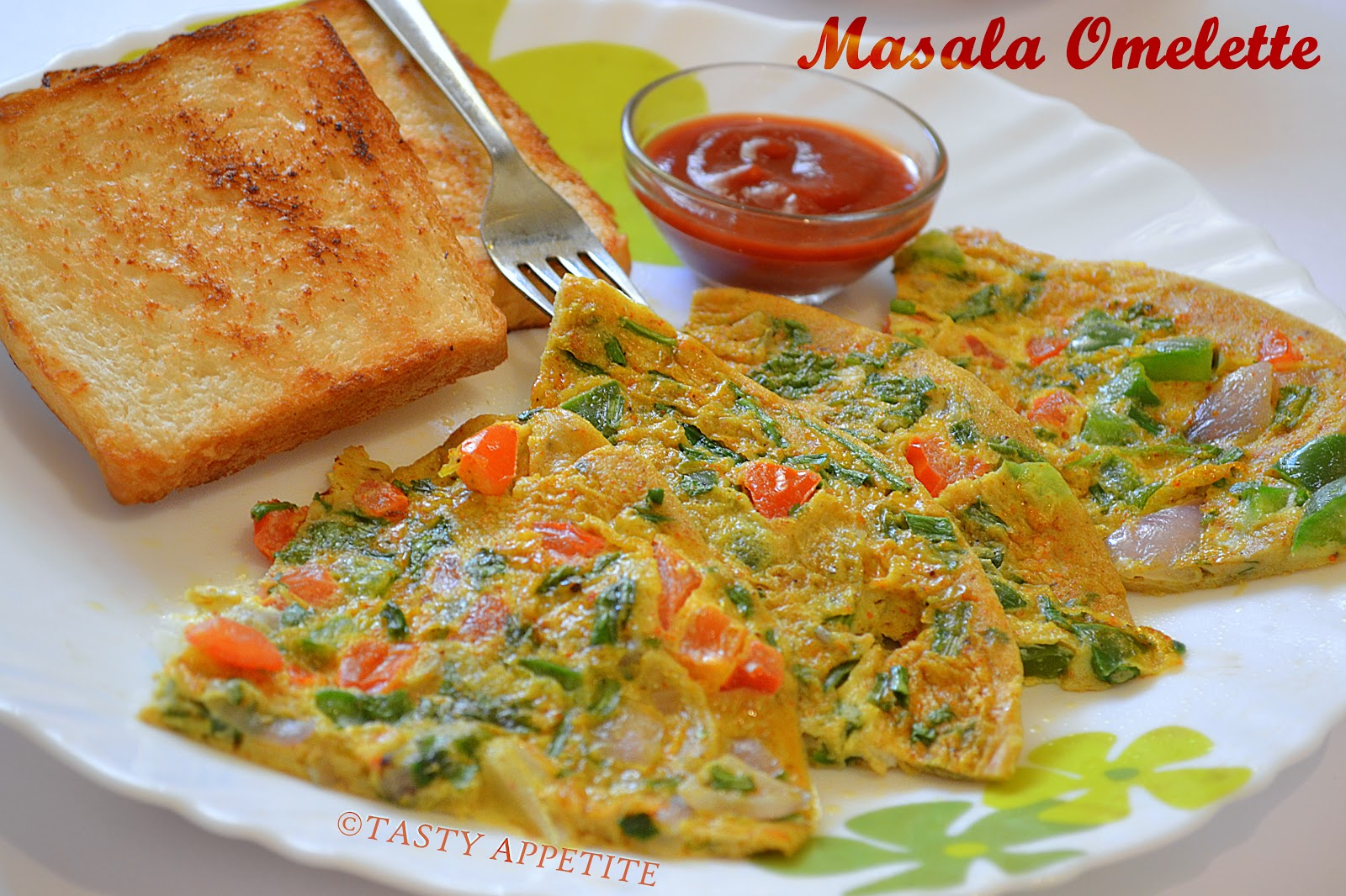 How to make Masala Omelette / Spicy Omelette ( Indian Style )