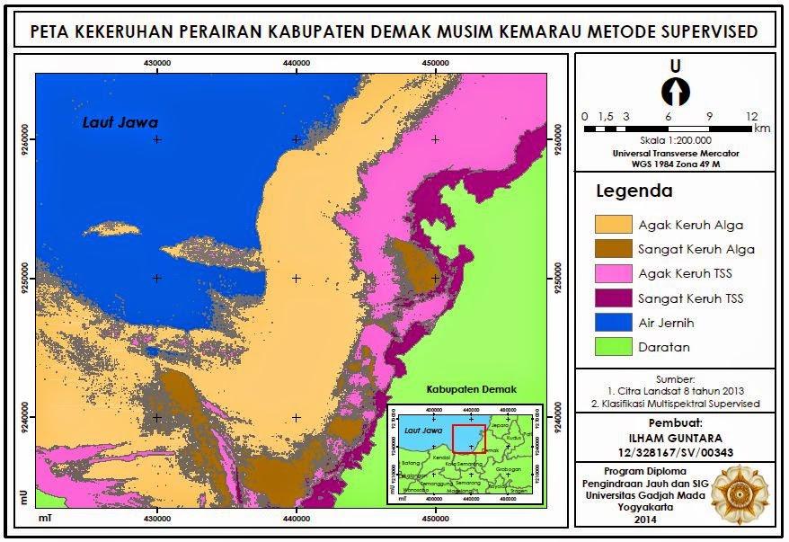 Peta Kekeruhan Perairan Kabupaten Demak www.guntara.com