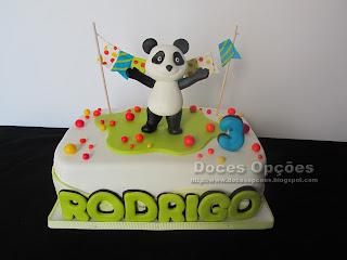 Bolo de Aniversário com o Panda