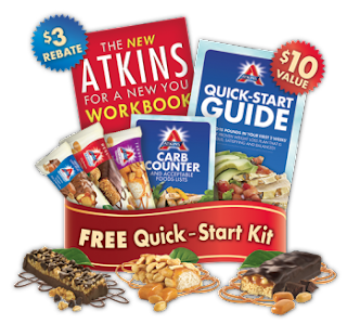 3 free atkins bars