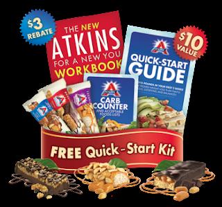 3 free atkins bars