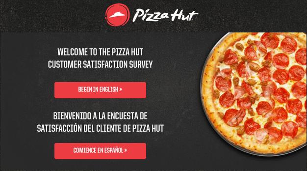 www.tellpizzahut.com UK Survey