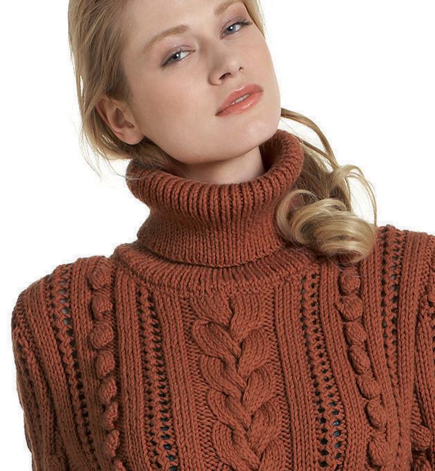 Ворот для свитера вязание спицами 272