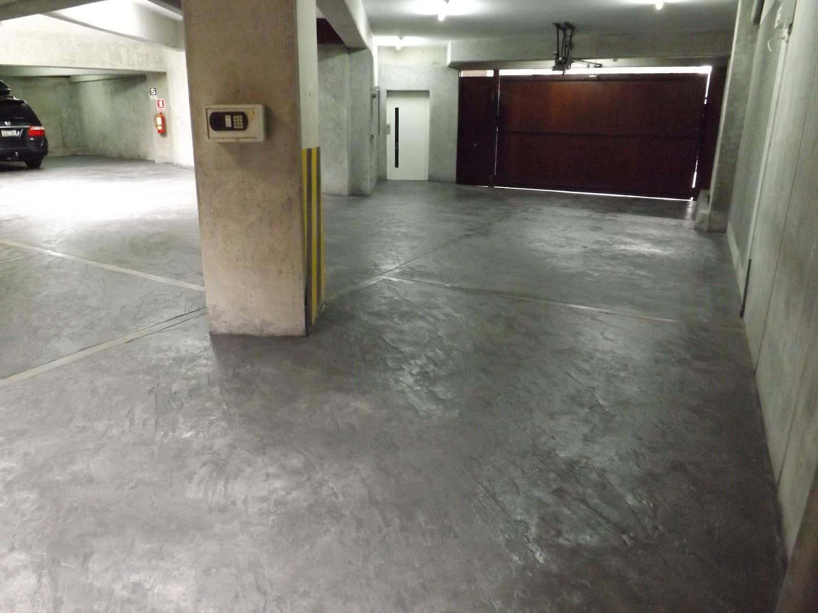 Cristian campos estacionamiento con concreto estampado for Cemento pulido blanco
