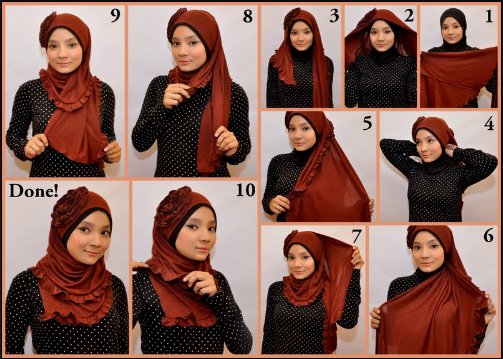 Cara Memakai Jilbab Hijab Style 2013