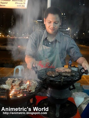Freshly flame-grilled burgers and steaks at Midnight Mercato