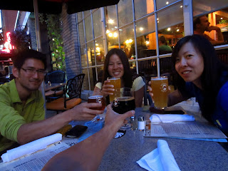 Beers at Deschutes Brewery in Portland, Oregon.