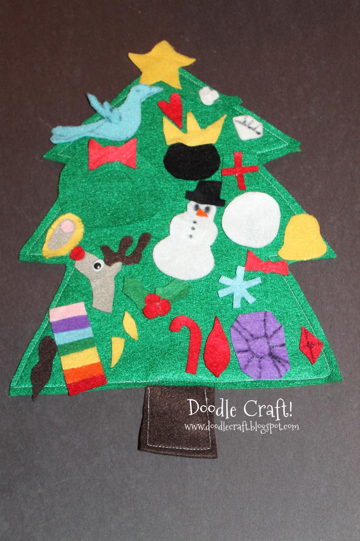 Doodlecraft christmas in july felt advent calendar for Felt christmas crafts for kids