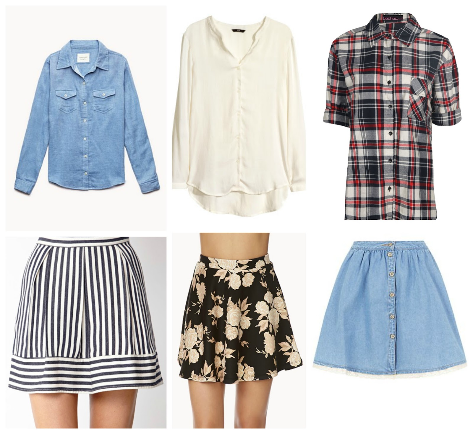 skirts and shirts