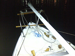 Broken Mast in Position to Mount at the Bow