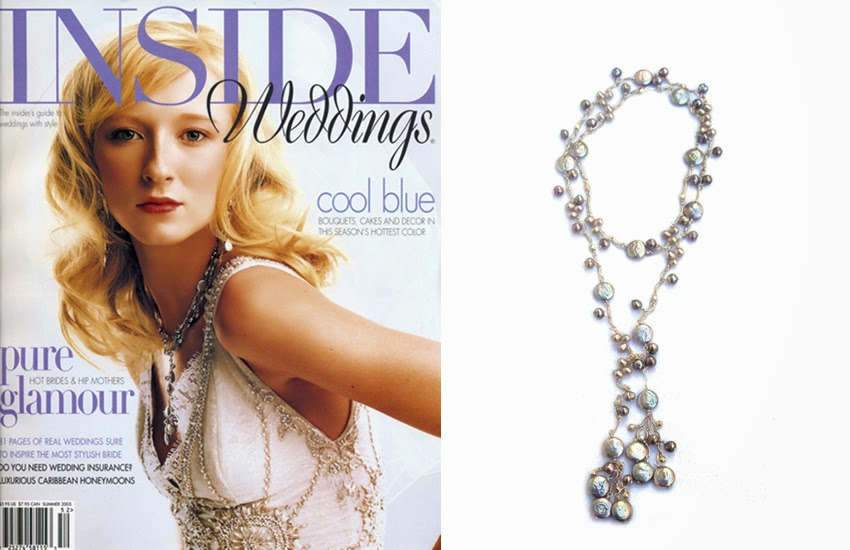 Sophia & Chloe Pearl Lariat As Seen In Inside Weddings