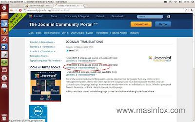 Pacote de tradução Joomla