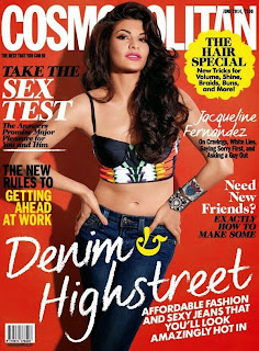 Jacqueline Fernandez on cover of Cosmopolitan Magazine (June 2014)