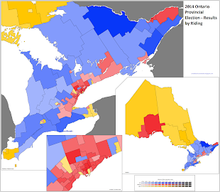 Ontario election results map
