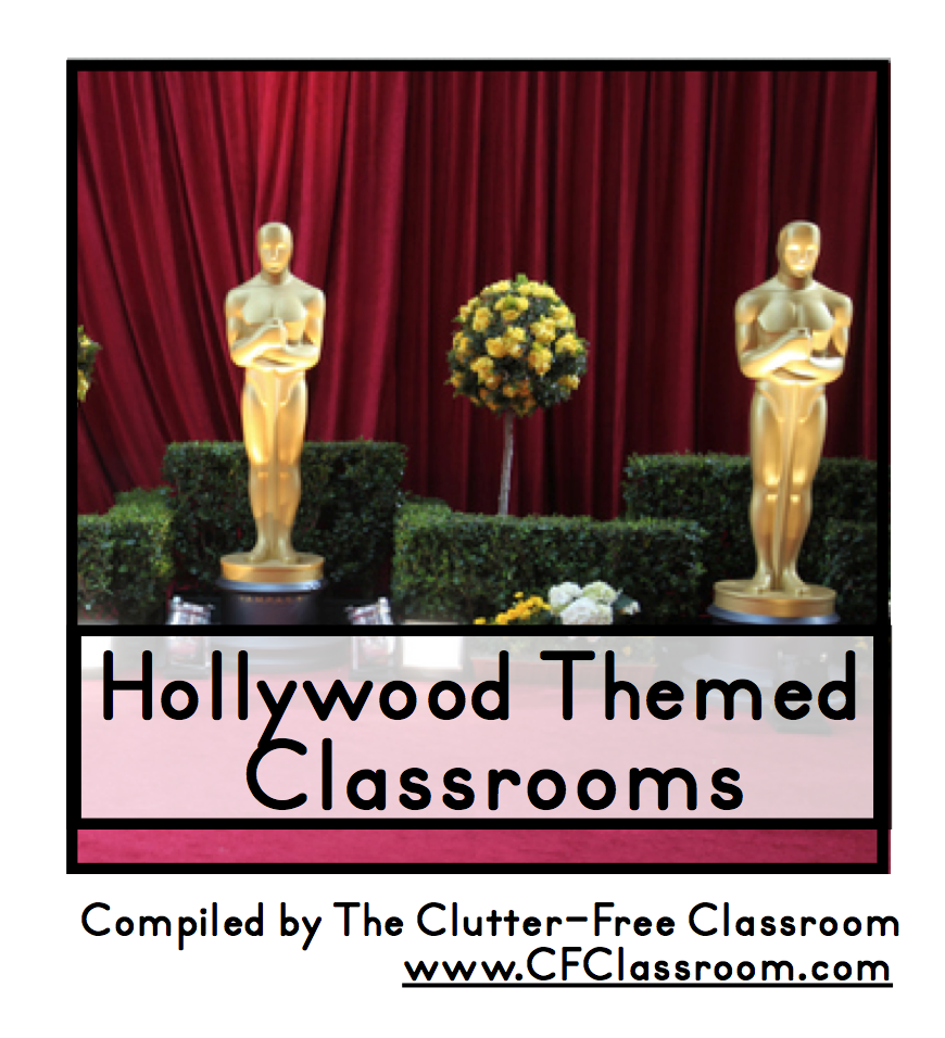 Hollywood Classroom Decor ~ Hollywood themed classroom photos printables and ideas