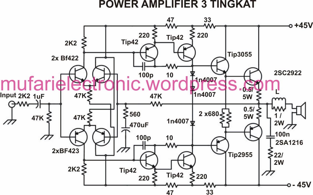 u0026quot berkah electronik u0026quot  service dan kit  skema amplifier