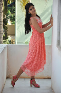 Mega Sri in lovely Short Peachy KurtiModeling Shoot Sizzling Pics