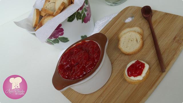 chutney ou compota de pimentão vermelho