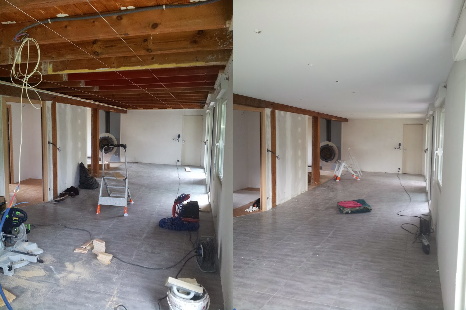 michel le coz agencement d coration avant apr s plafond tendu s jour. Black Bedroom Furniture Sets. Home Design Ideas