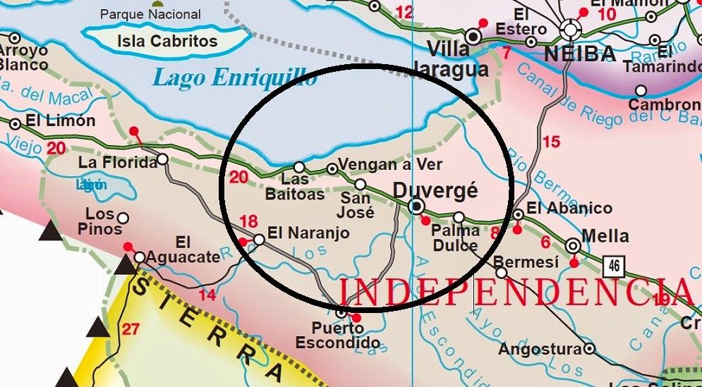 Resultado de imagen para mAPA Municipio de Duvergé independencia