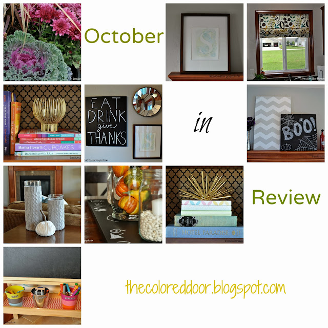 October in Review - the colored door