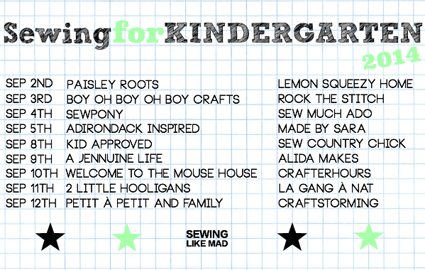 Sewing for Kindergarten