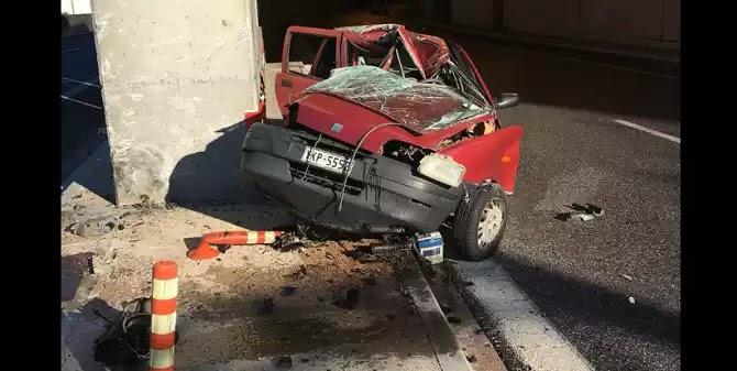 Αττική Οδός: Αυτοκίνητο προσέκρουσε σε τοίχο – Σκοτώθηκε η 24χρονη οδηγός