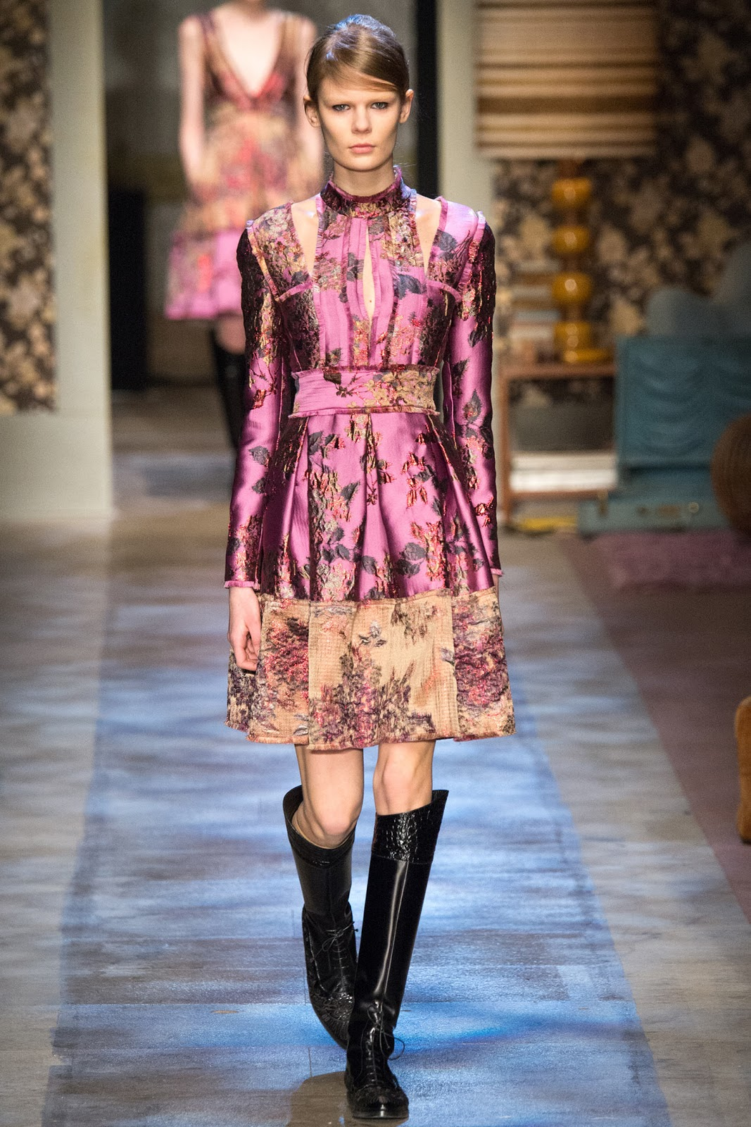 Brocade trend on AW 2015 runway at Erdem / via www.fashionedbylove.co.uk