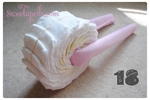 diaper bike cake instructions