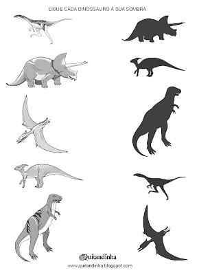 ligue o dinossauro a sua sombra