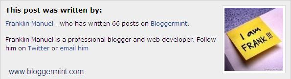 author information widgets, yazar bilgileri ekleyin blogger,blogger yazar biilgi eklentisi ekle,yazının sonuna yazar bilgi eklentisi