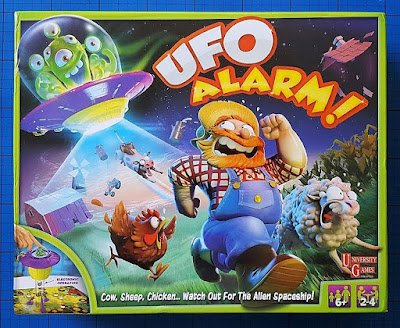 UFO Alarm! Board Game review for age 6+ from University Games