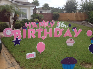 Big Yard Card Wishing This Sweet 16 A Deliciously Happy