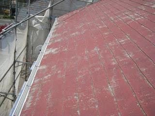 川崎市 高津区 スレートコロニアル屋根 雪止め 設置前 点検