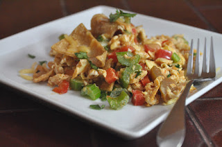 Eggs with Tortillas and Cheese …. Migas!