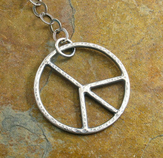 Sterling Silver Peace Symbol by Cicada Silver