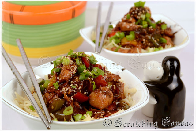 Chinese New Year Sesame Chicken Noodles Recipe