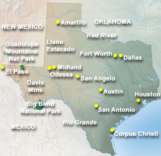 Map of Texas State Pictures