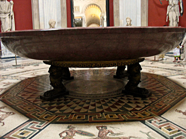 huge urn in sistine chapel